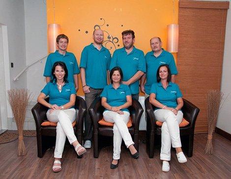 Das Team des Zahntechnikerlabors der Zahnklinik Hodent